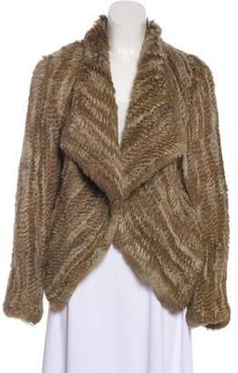 Belle Fare Knitted Fur Jacket