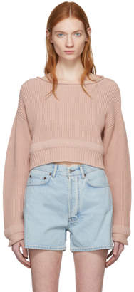Alexander Wang Pink Wide Neck Sweater