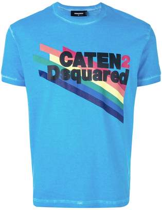 DSQUARED2 rainbow and slogan T-shirt