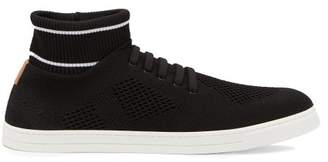 Fendi Knitted Low Top Trainers - Mens - Black