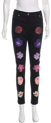 Opening Ceremony Floral-Embroidered Skinny Jeans