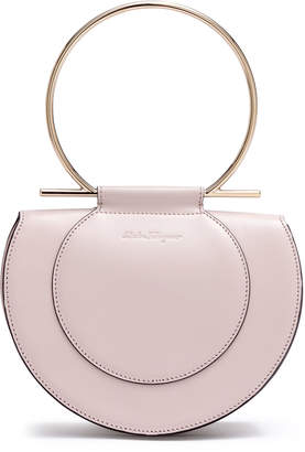 Salvatore Ferragamo Daphne Gancino pale blush shoulder bag