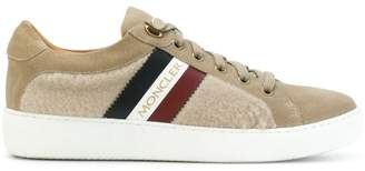 Moncler shearling paneled sneakers