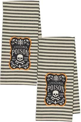 Design Imports Poison Dishtowels (Set of 2)