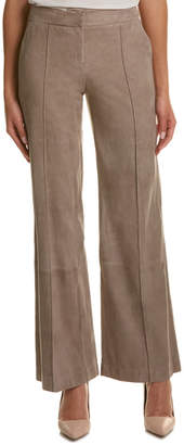 Lafayette 148 New York Kenmare Suede Flare Pant