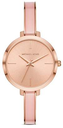 Michael Kors Jaryn Rose Gold-Tone Bangle Bracelet Watch, 36mm