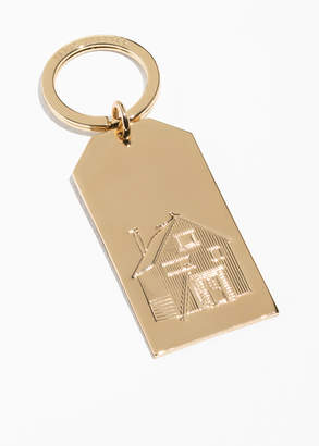 House Embossed Plate Keychain
