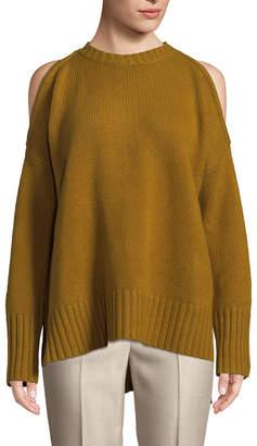 BCBGMAXAZRIA Wool Cashmere Blend Steffe Cold-Shoulder Sweater