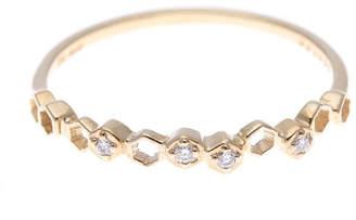 ソーイ sowi 【K10・ダイヤモンド】幸せを運ぶもの 蜂の巣 リング