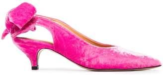 Ganni Pink Sabine 50 Velvet Pumps