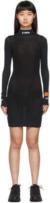 Heron Preston Black Style Turtleneck Dress