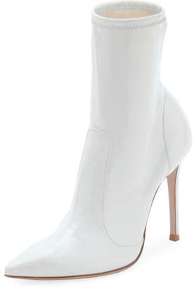 Gianvito Rossi High-Heel Pointed Vinyl Booties