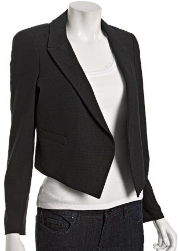 Twenty8Twelve black stretch cotton 'Calandra' jacket
