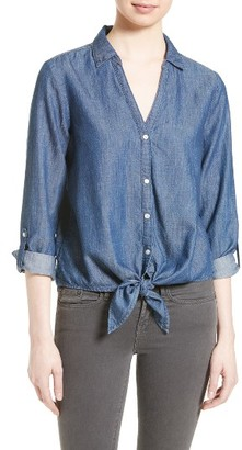 Women's Soft Joie Crysta Chambray Shirt $178 thestylecure.com