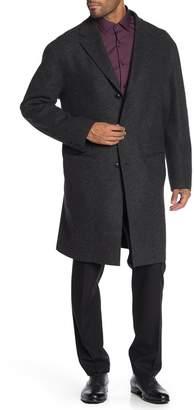 John Varvatos Drop Shoulder Front Button Coat