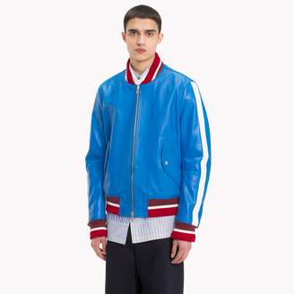 Tommy Hilfiger Retro Leather Bomber Jacket