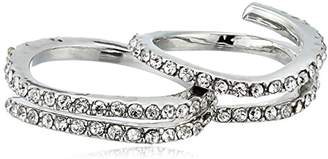 Jessica Simpson Twisted Pave Set Rhodium Ring