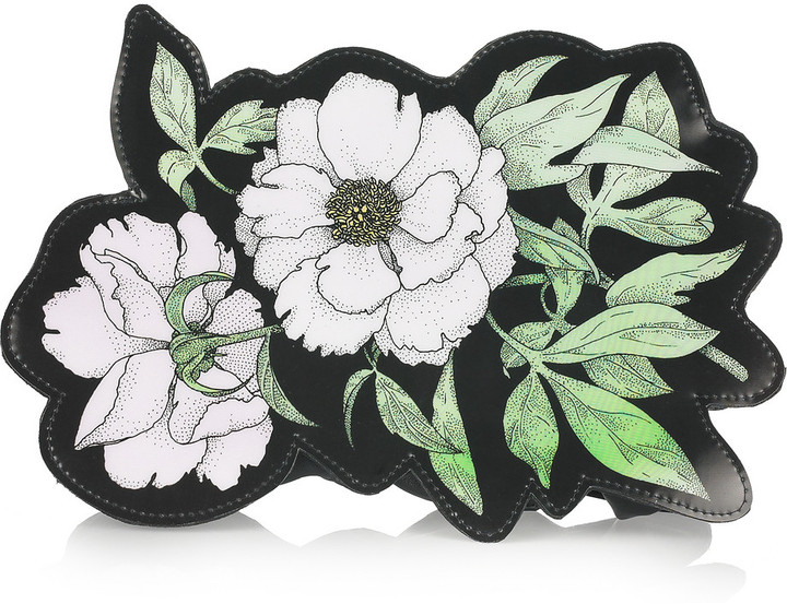 Christopher Kane Clematis leather clutch