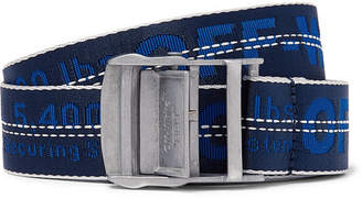 Off-White 3.5cm Blue Industrial Canvas Belt