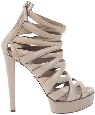 Gucci Grey Leather Heels