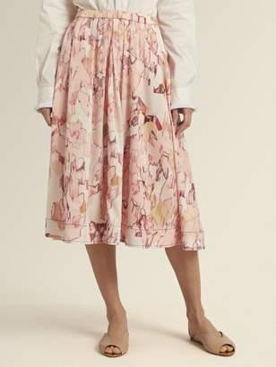 DKNY Pull On Midi Pleated Skirt