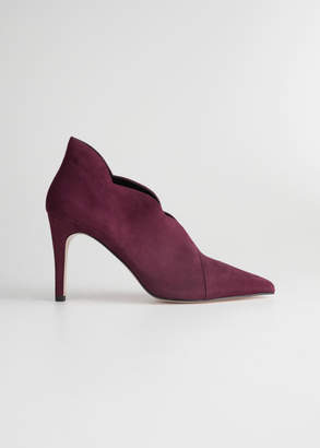 And other stories Scallop Edge Suede Pumps