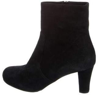 Taryn Rose Suede Round-Toe Booties