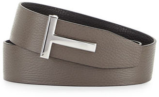 TOM FORD Reversible Leather Logo Belt $690 thestylecure.com