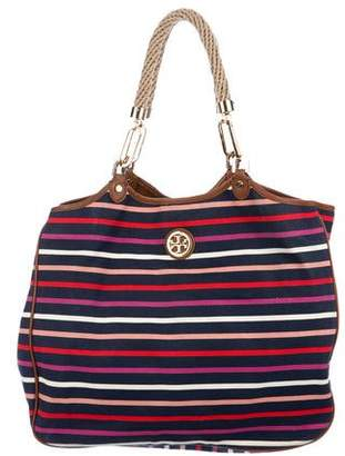 Tory Burch Striped Canvas Tote
