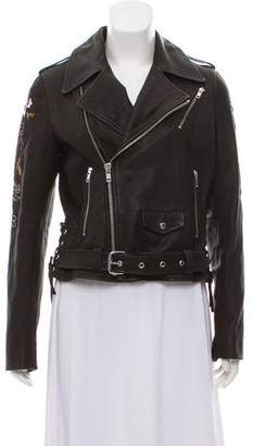 A.L.C. Leather Embroidered Jacket