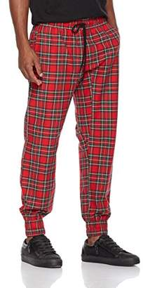 Rebel Canyon Young Men's Tartan Plaid Twill Pant Jogger Pant (