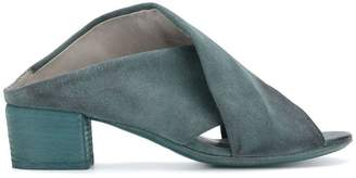 Marsèll block heel cross strap sandals