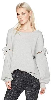 UNIONBAY Women's Hailey Cold Shoulder Fleece Sweat Shirt