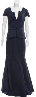 Zac Posen Rosa Short Sleeve Gown w/ Tags