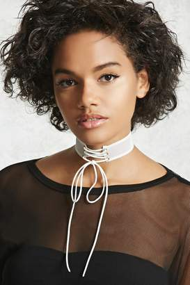 Forever 21 Lace-Up Mesh Choker