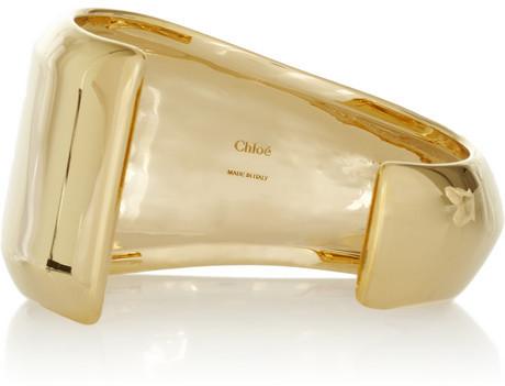 Chloé Bettina gold-tone resin cuff