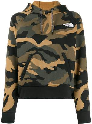 The North Face camouflage print hoodie