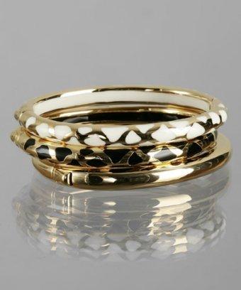 Jardin set of 3 - animal print and gold bangles