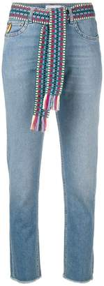 Mira Mikati cropped frayed jeans