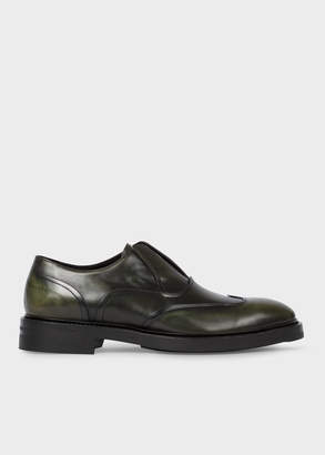 Paul Smith Men's Dark Green 'Hicks' Laceless Leather Brogues