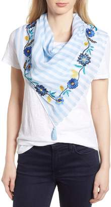 Rebecca Minkoff Embroidered Stripe Square Scarf