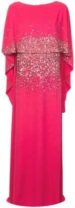 Oscar de la Renta embroidered cape gown