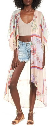 Women's Band Of Gypsies Floral Chiffon Kimono $89 thestylecure.com