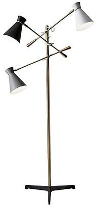 One Kings Lane Gracie 3-Arm Floor Lamp - Antiqued Brass