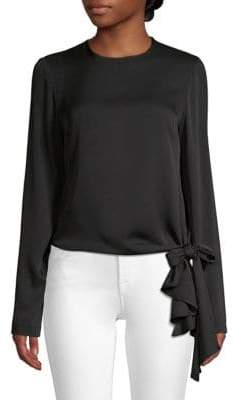 Milly Stretch Silk Asymmetric Blouse