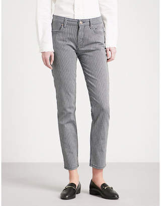 Claudie Pierlot Striped skinny mid-rise jeans