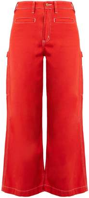 BLISS AND MISCHIEF Painter high-waist flared jeans