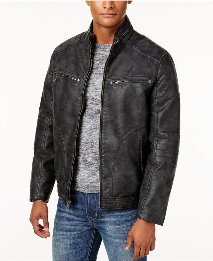 Buffalo David BittonBuffalo David Bitton Faux-Leather Nubuck Jacket