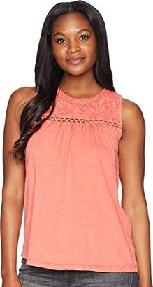 Lucky Brand Women's Embroidered Tank TOP