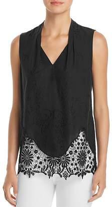 T Tahari Daria Sleeveless Lace-Trim Top - 100% Exclusive